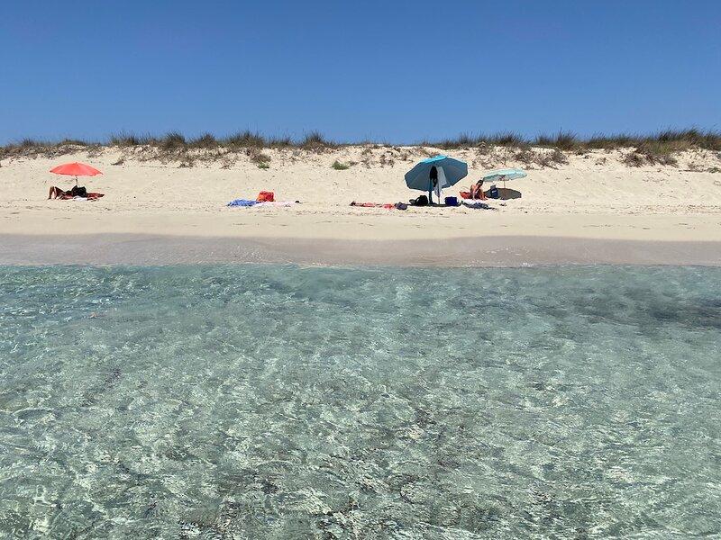 One fo the Menorca's beaches: a corner of Son Bou.