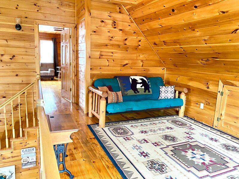 Loft area with futon