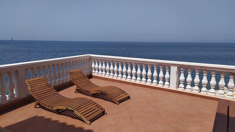 Sea view terrace apartment Spacal - Piran, holiday rental in Piran
