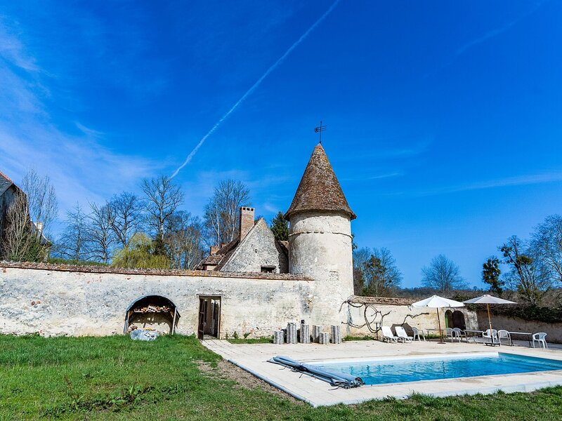 Historic Castle in Le Veurdre with Swimming Pool, Billiards, alquiler vacacional en Couleuvre