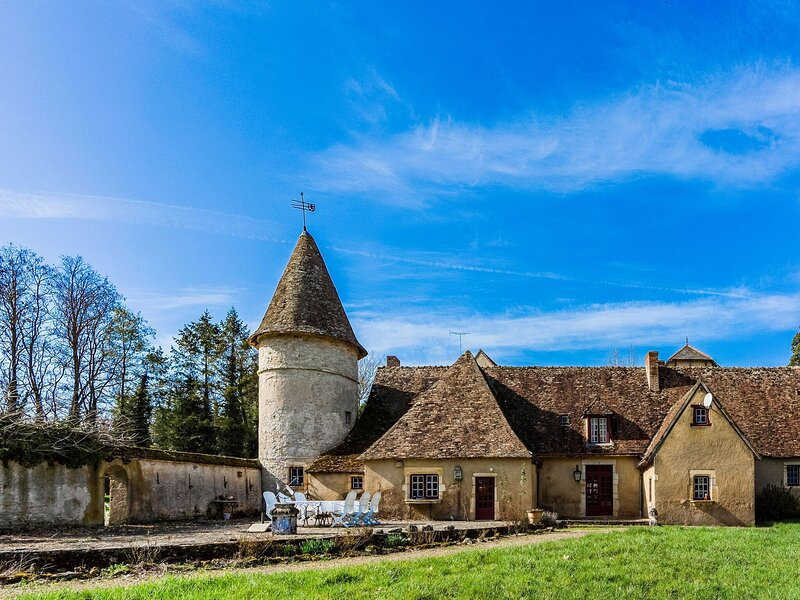 Beautiful Castle in Le Veurdre with Private Pool, alquiler vacacional en Couleuvre