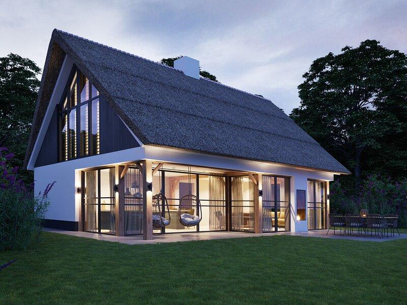 Luxury villa with sauna only a few minutes from the beach, location de vacances à Den Burg