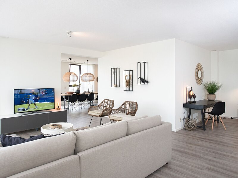 Penthouse apartment with a spacious terrace and a view over the North Sea, holiday rental in Scheveningen