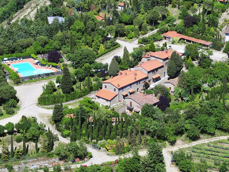 Beautiful Farmhouse in Arezzo with Swimming Pool, Garden, holiday rental in Tregozzano