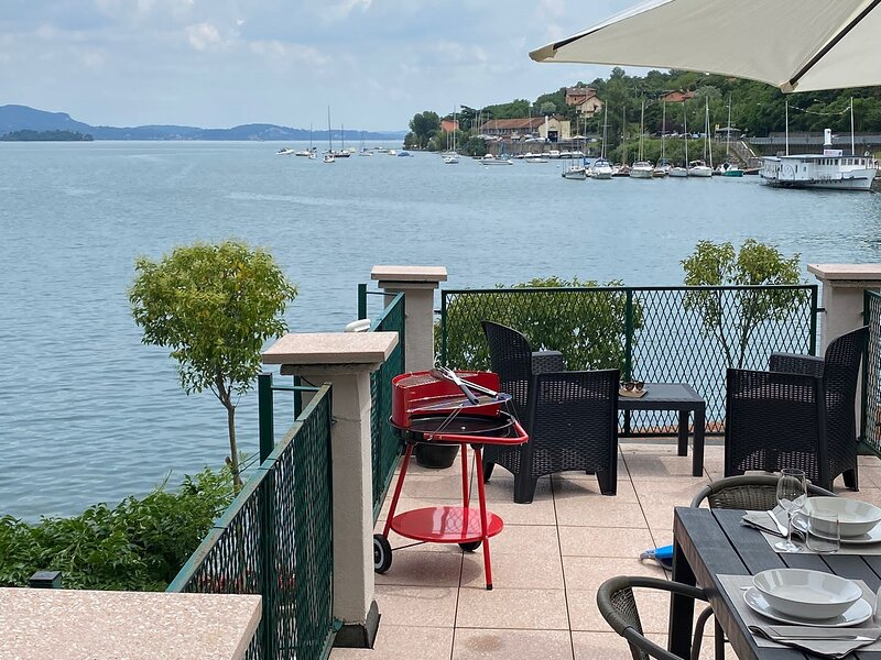 Internazionale apartment in Feriolo with lake view and terrace, holiday rental in Gravellona Toce