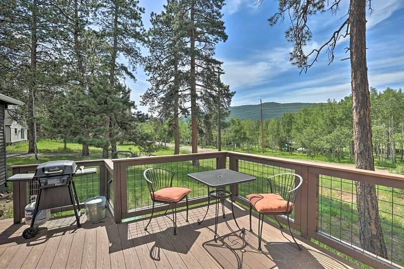 Remodeled Conifer Cabin w/ Deck & Mountain Views!, holiday rental in Shawnee