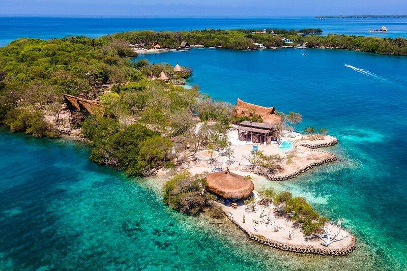 Car018 - Paradise island in Islas del Rosario, Cartagena, location de vacances à Isla Grande
