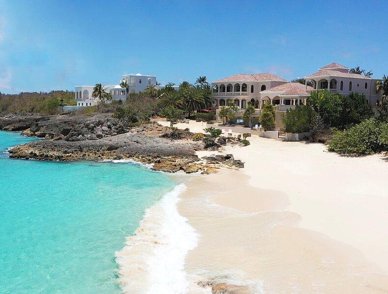 SANDCASTLE VILLA - 11,500 sf Luxury Beachfront Villa + 2 Cars + Pool/Spa, holiday rental in Anguilla