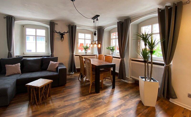Ferienwohnungen 'Zum Hirsch', Appartement 'Schlossberg', holiday rental in Hirschhorn (Neckar)