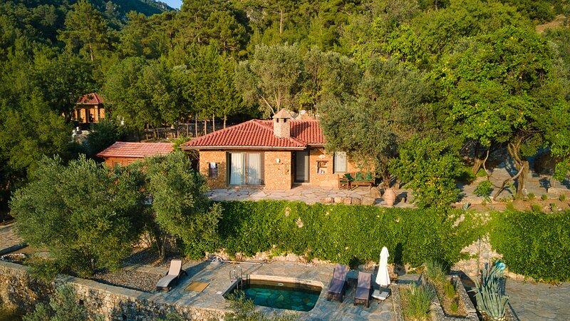 1 Bedroom Villa with Private Pool in Gokceovacik, Gocek, vakantiewoning in Gocek
