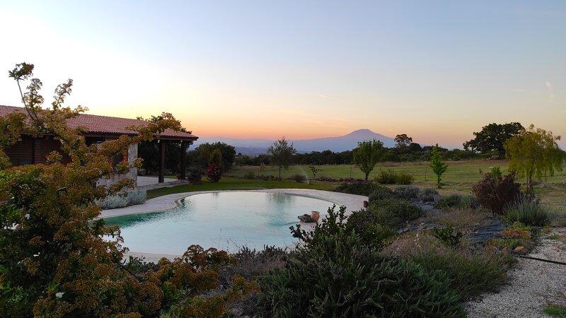 Location esclusiva immersa nella natura con piscina panoramica, holiday rental in Cassaro