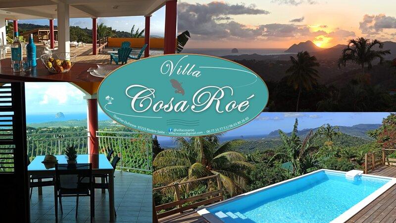 Villa 'CosaRoé' spacieuse au calme, Piscine, belle Vue Mer, alquiler vacacional en Riviere-Salee