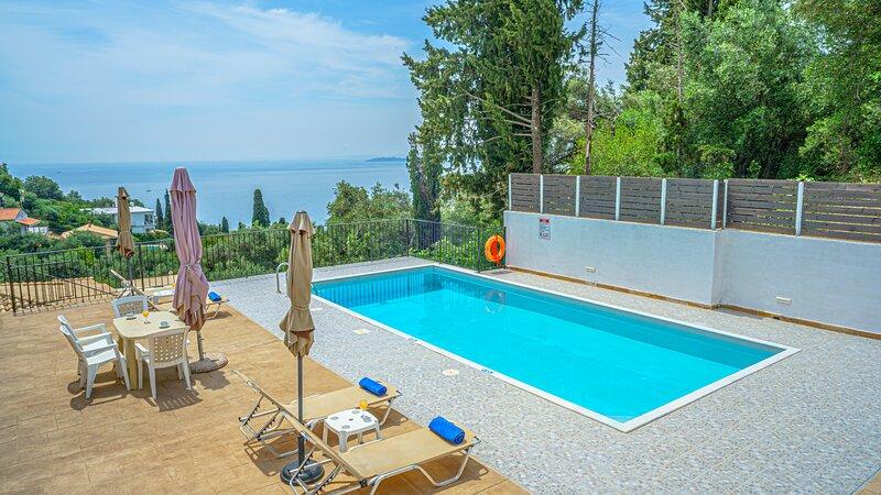 Zeus 2 PRIVATE pool apartment, holiday rental in Nissaki