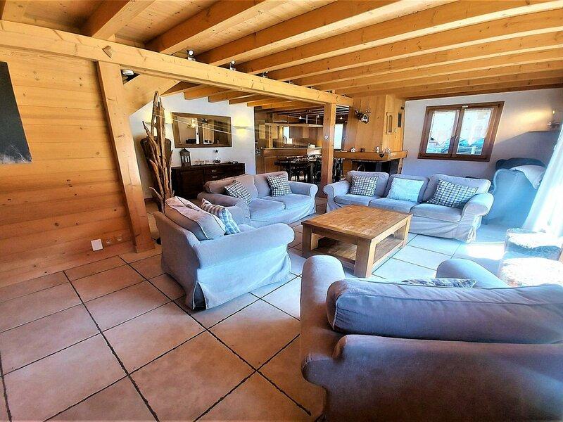 Spacieux chalet avec sauna, alquiler vacacional en Sixt-Fer-a-Cheval
