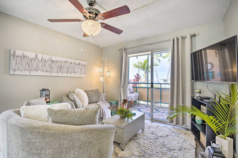Kailua-Kona Vacation Rental | 1BR | 1BA | 540 Sq Ft | Stairs Required