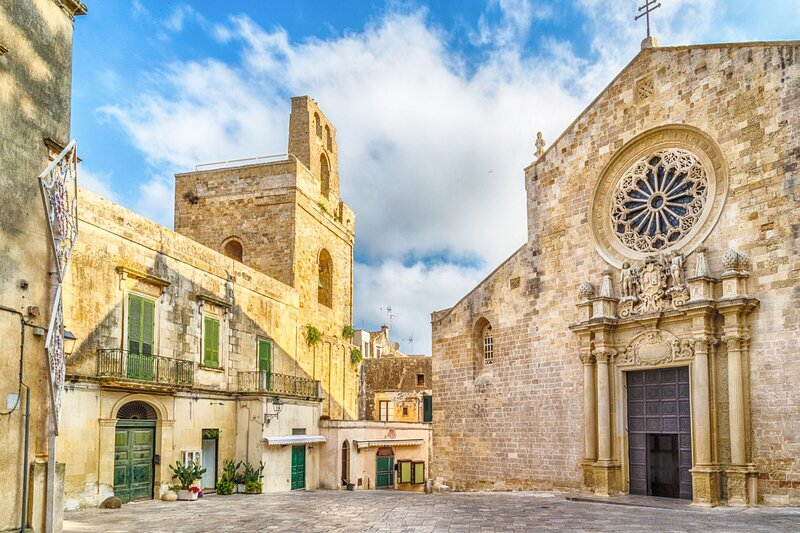Cathedral of nearby Otranto