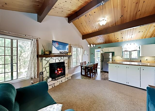 The Birch House | Outdoor Living on Quiet Street | Fireplace, Deck & Patio, holiday rental in Riverside