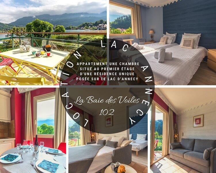 BAIE DES VOILES - #102 Vue lac & Château 1 chambre, holiday rental in Duingt