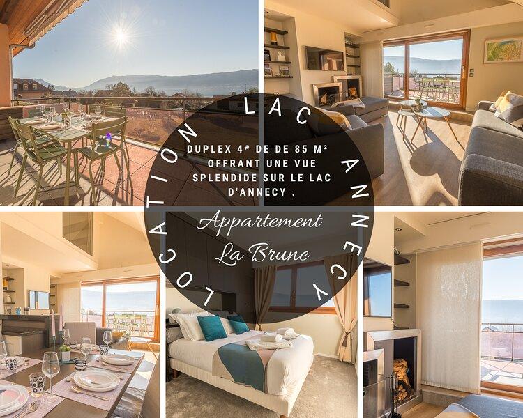 Veyrier - La Brune - Duplex 4* vue lac, holiday rental in Veyrier-Du-Lac