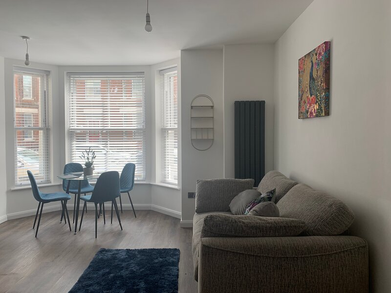 open plan lounge with pull out double sofa for extra guests