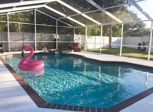 Large and easy to access.  Clean and very comfortable. Pool is heated upon guest request for $35.00