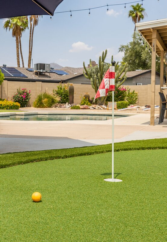 Golfer's dream, pro backyard putting green