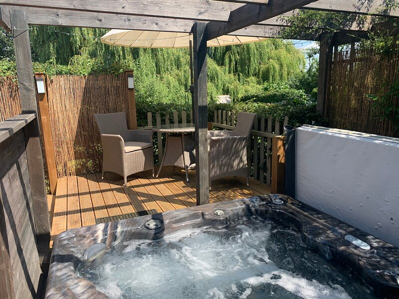 Hot tub and private decking area