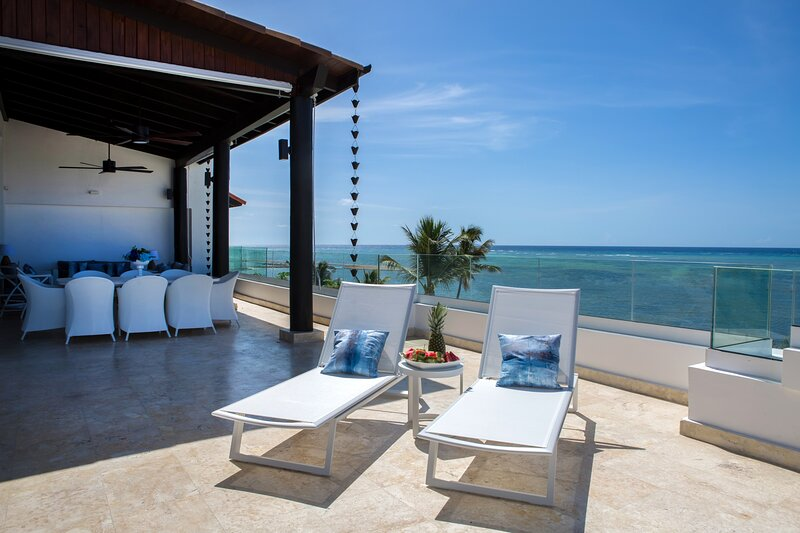 Private terrace with unobstructed ocean views