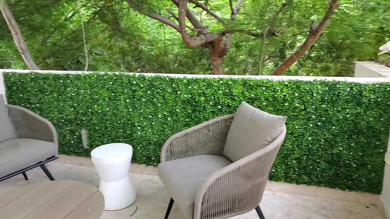 The lounge area on the private patio with seating for 10.  Nature surrounds