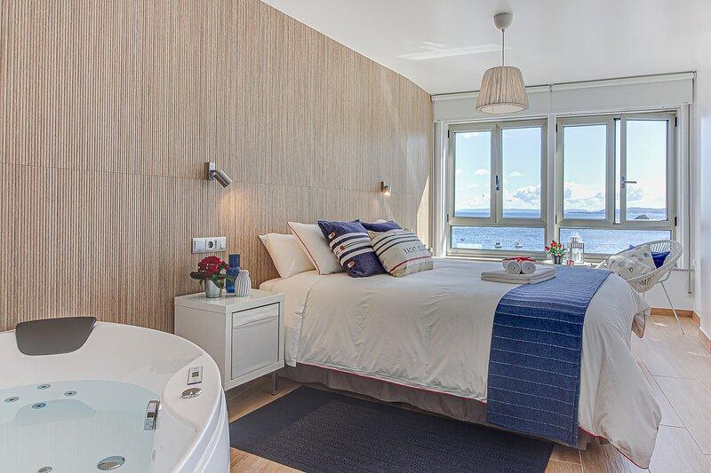 RIBAdoMAR Caión, Apartamento 1º con impresionantes vistas al mar, location de vacances à Bertoa
