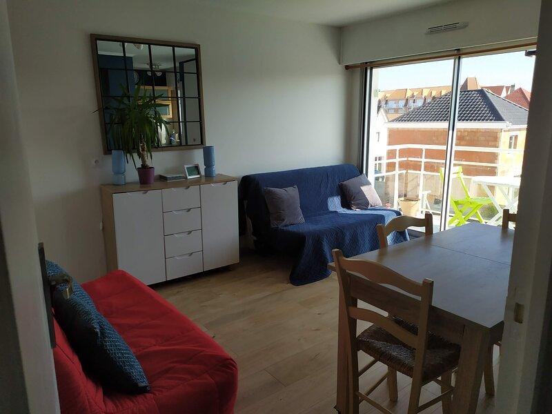 Studio Ste-Cécile proche plage + wifi, location de vacances à Camiers