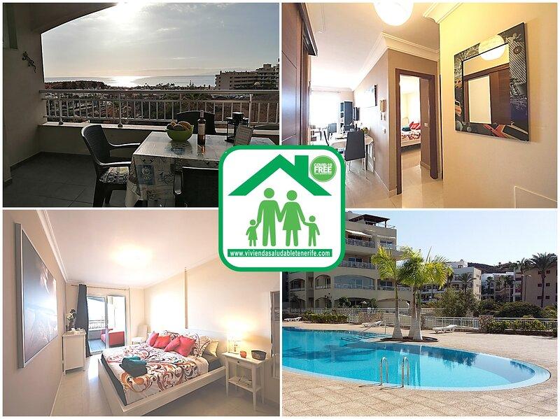 LAST MINUTE  JULY 290 € WEEK  2 BEDROOM AMAZING SEA VIEWS 180 DEGREE WIFI, holiday rental in Palm-Mar