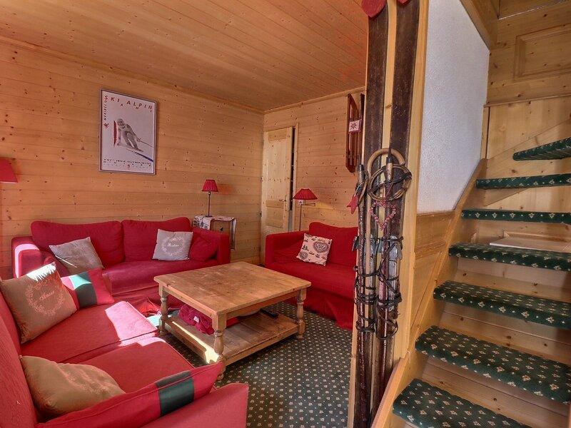 GRAND APPARTEMENT SKIS AUX PIEDS - IDEAL POUR DES VACANCES EN FAMILLE, vacation rental in Meribel Mottaret