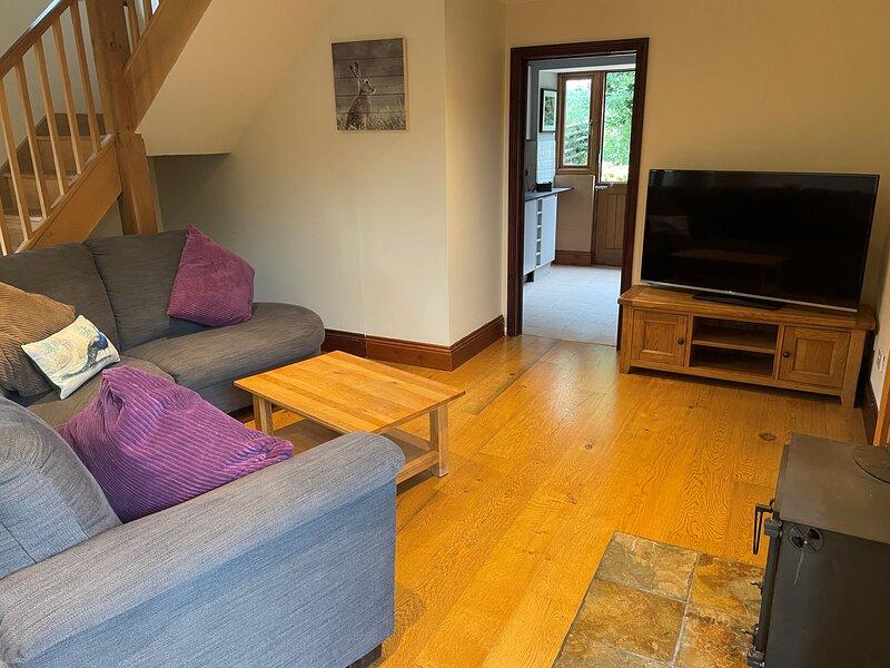 cotford st luke holiday barn, cider farm, large garden with lake, internet, location de vacances à Taunton