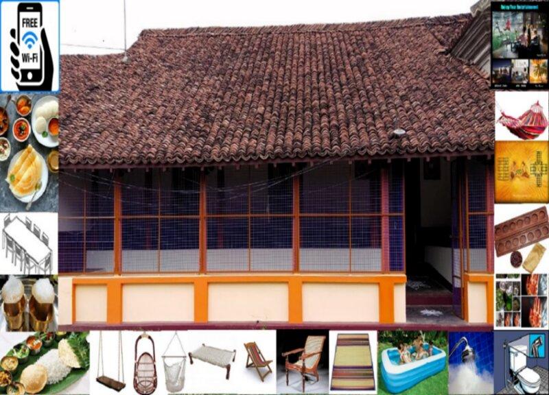 Exotic 150 yrs traditional house in KONERIRAJAPURAM with Food + WiFi + Pool, vacation rental in Nagapattinam District