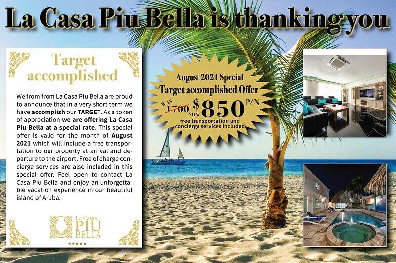 La Casa Piu Bella luxurious mansion in Aruba, alquiler de vacaciones en Oranjestad