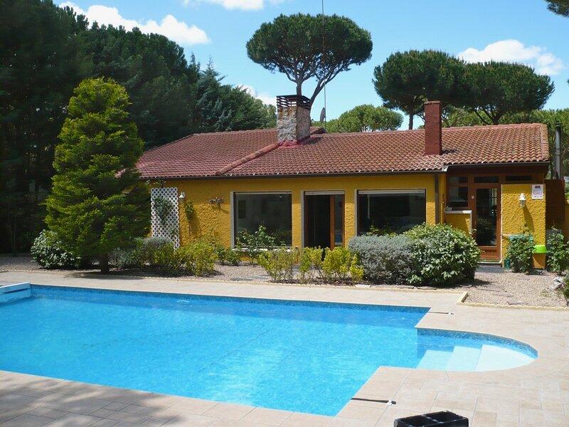 Villa con piscina privada de 9x5, holiday rental in Villanueva de Duero