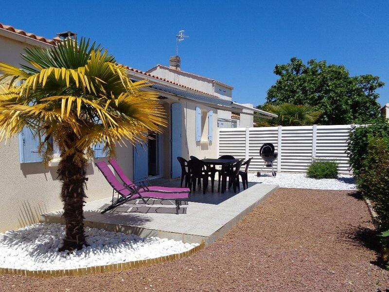 A 500 m de la baie de Clémenceau, avec wifi, jardin, maison pour 5 personnes, location de vacances à Saint-Vincent-sur-Jard