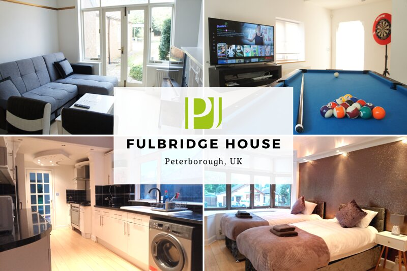 ★ Fulbridge House ★ 4 bedroom house with FUN room by Parker Jones, holiday rental in Market Deeping