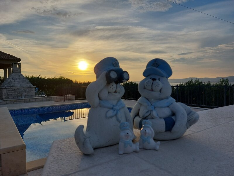 Ita - with pool and view: H(4+1) - Postira, holiday rental in Dol