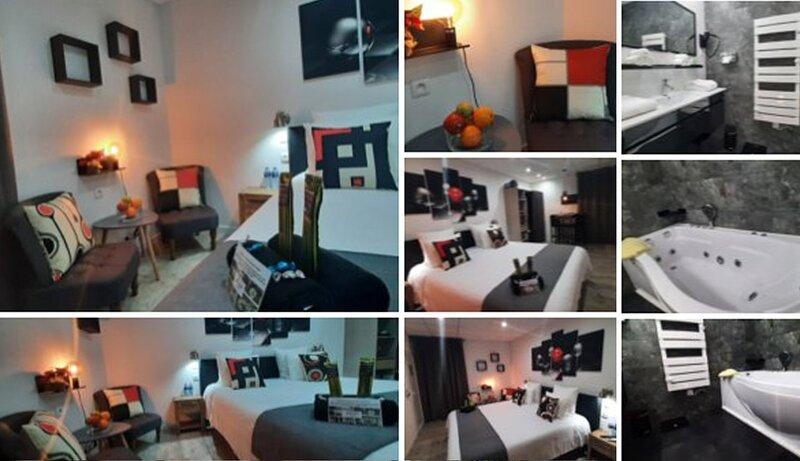 Chambre double avec baignoire spa 2, holiday rental in Privas