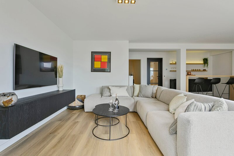 Stunning new and modern apartment with large terrace and free parking, location de vacances à Sluis