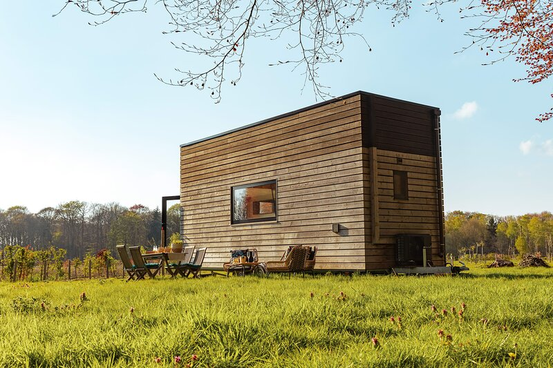 One-of-a-kind Tiny House on the edge of the Castle Forest, alquiler de vacaciones en Aalter