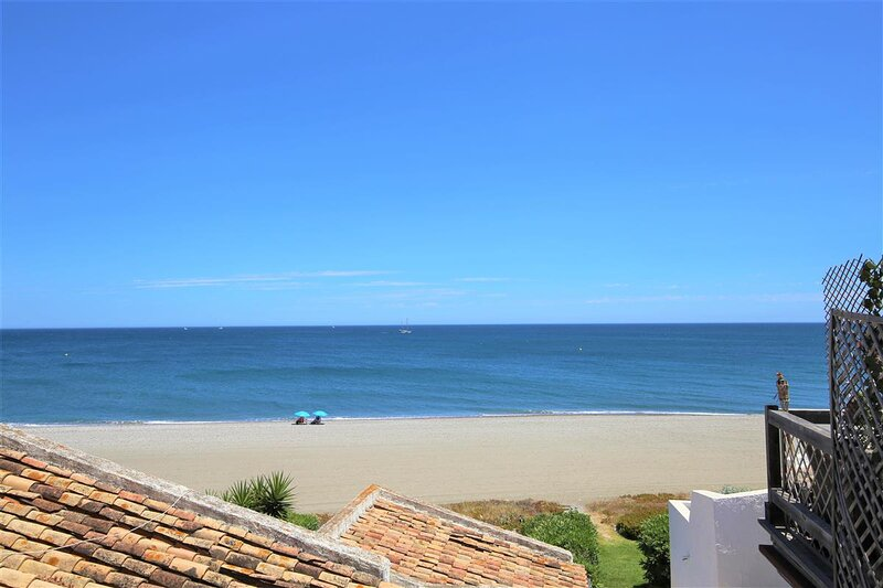 Sea views from the property over the local beach