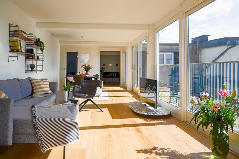 Spacious 3-bedroom Apartment with a rooftop terrace in the center of Copenhagen, alquiler de vacaciones en Roedovre Municipality