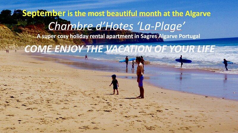 Apartment 'La Plage' Sl.3 Sea view WiFi/Smart TV, Privacy, holiday rental in Sagres