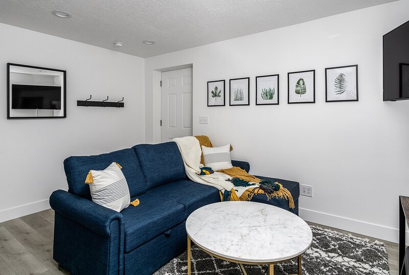 Stunning Private 2 Bedroom Basement Apartment with Private Entry, location de vacances à Saratoga Springs