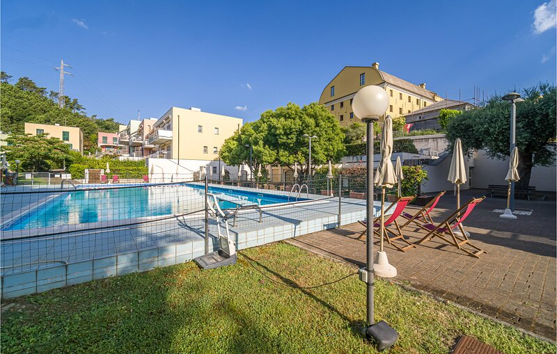 Nice home in Arenzano with Outdoor swimming pool, WiFi and 2 Bedrooms (ILL822), holiday rental in Urbe