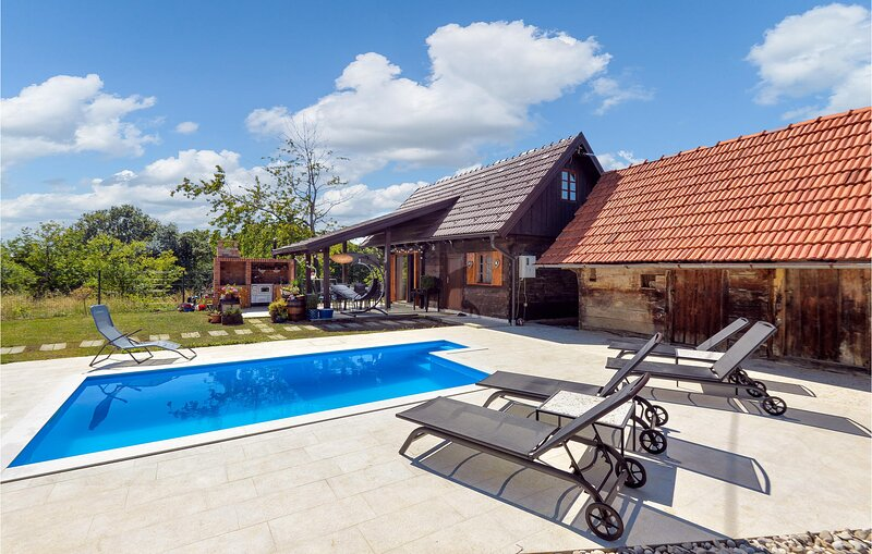 Nice home in Stubicke Toplice with Outdoor swimming pool, WiFi and 2 Bedrooms (C, holiday rental in Bedekovcina