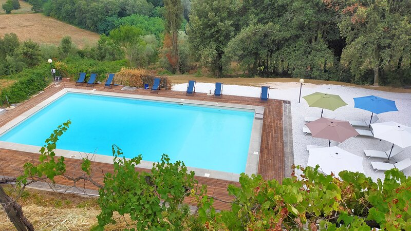 Casa Valente is located within the grounds of the historic Villa Meleto, holiday rental in Castelfiorentino